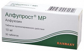Алфупрост мр 10мг 30 шт. таблетки пролонгированного действия