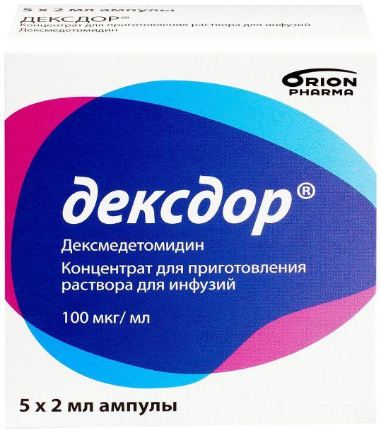 Дексдор 2мл 5 шт. концентрат для приготовления раствора для инфузий, фото №1