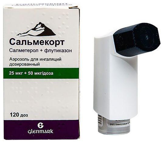 Сальмекорт 25мкг+50мкг/доза 120доз аэрозоль для ингаляций дозированный, фото №1