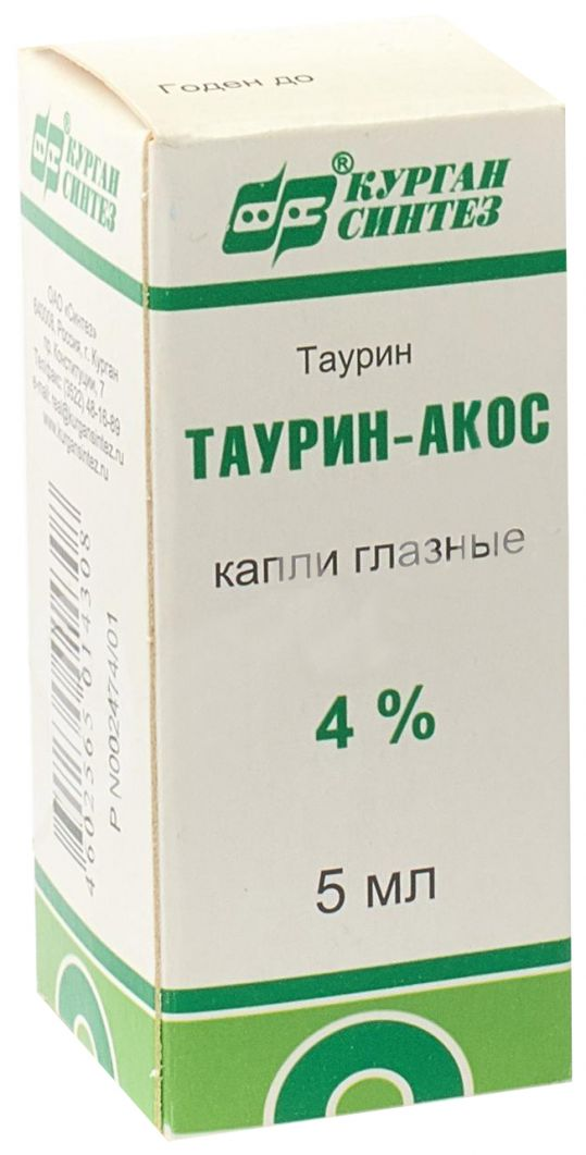 Таурин-акос 4% 5мл капли глазные, фото №1