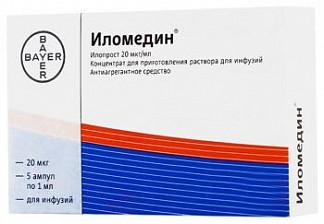 Иломедин 20мкг/мл 1мл 5 шт. концентрат для приготовления раствора для инфузий