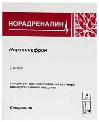 Норадреналин препарат
