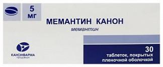 Мемантин канон 5мг 30 шт. таблетки покрытые пленочной оболочкой