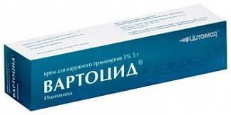 Вартоцид 5% 5г крем для наружного применения цитомед мбнпк зао