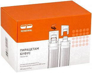 Пирацетам буфус 200мг/мл 5мл 100 шт. раствор для внутривенного и внутримышечного введения