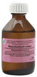 Муравьиный спирт 1,4% 50мл раствор для наружного применения спиртовой