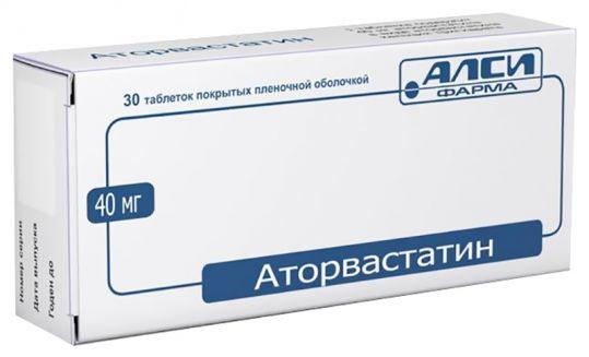 Аторвастатин-алси 40мг 30 шт. таблетки покрытые пленочной оболочкой, фото №1