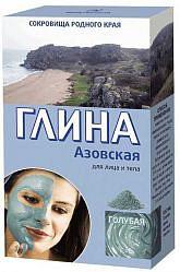 Фитокосметик сокровища родного края глина голубая для лица и тела азовская 100г