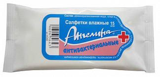 Ангелина салфетки влажные антибактериальные 15 шт.