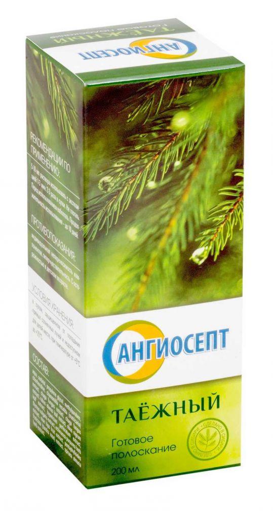Ангиосепт полоскание для полости рта таежный 200мл, фото №1