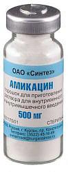 Амикацин 500мг 1 шт. порошок для приготовления раствора для внутривенного и внутримышечного введения