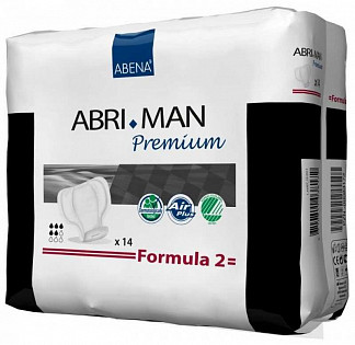 Абри-мен премиум прокладки урологические для мужчин формула 2 14 шт.