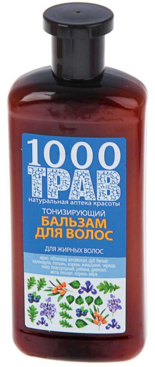 1000 трав бальзам для волос тонизирующий 500мл, фото №1