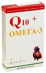 Q10 + омега 3 капсулы 0,3г 40 шт.