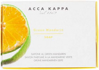 Acca kappa мыло туалетное зеленый мандарин 150г