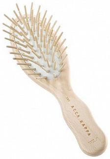 Акка каппа щетка для волос дорожная пневматическая с деревянными зубчиками арт.62390
