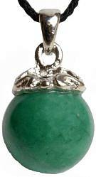 Стикс аромакулон из натурального камня нефрит