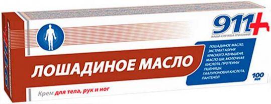 911 лошадиное масло крем для тела/рук/ног 100мл твинс тэк, фото №1