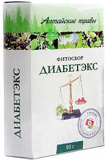 Алтайские травы диабетэкс фитосбор 50г