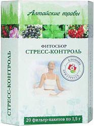 Алтайские травы стресс-контроль фитосбор 1,5г 20 шт. фильтр-пакет