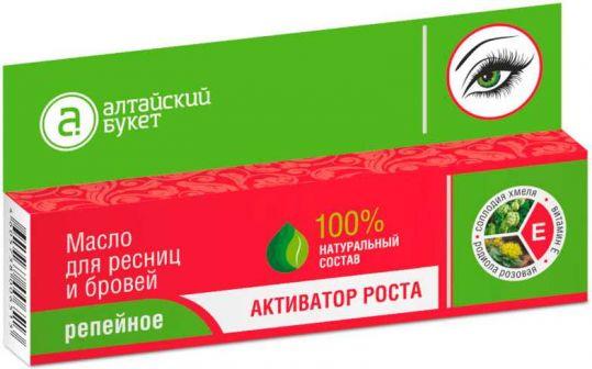 Алтайский букет масло репейное для ресниц/бровей активатор роста 7мл, фото №1