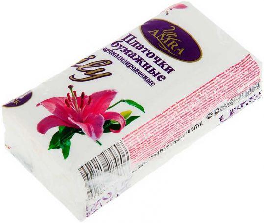 Амра платочки бумажные лилия 10 шт., фото №1