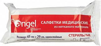 Ангел салфетки стерильные из нетканого материала 45х29см 5 шт.