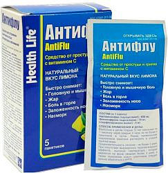 Антифлу 5 шт. порошок для приготовления раствора для приема внутрь для взрослых