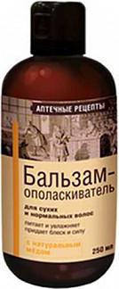 Аптечные рецепты шампунь для сухих/нормальных волос с медом 250мл
