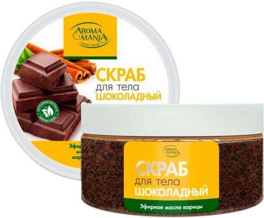 Арома мания скраб для тела шоколад/корица 250мл, фото №1