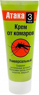 Атака крем от комаров универсальный 75мл