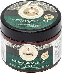 Банька агафьи мыло для волос и тела кедровое 300мл