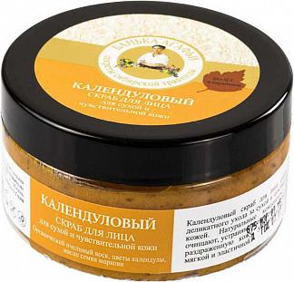 Банька агафьи скраб для лица для сухой/чувствительной кожи календуловый 100мл