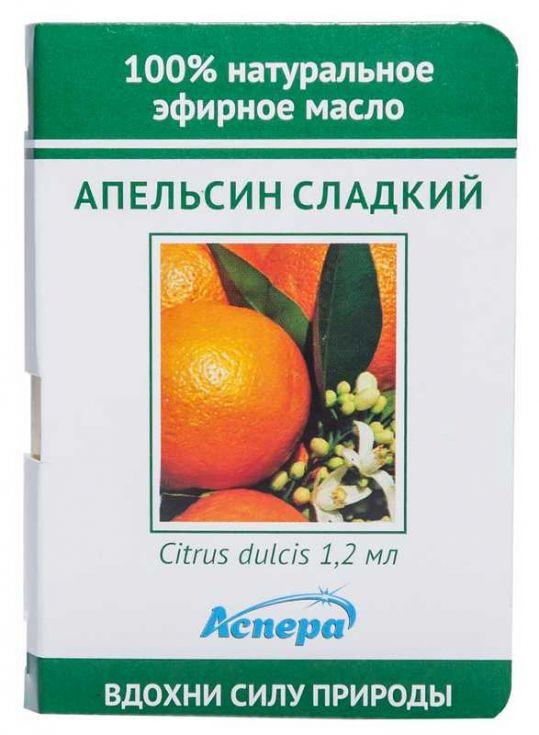 Аспера масло эфирное апельсин сладкий (миниатюра) 1,2мл, фото №1