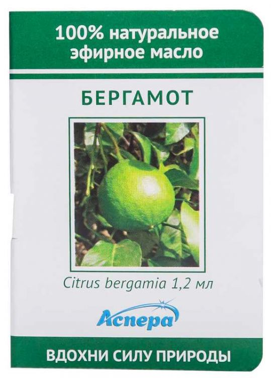 Аспера масло эфирное бергамот (миниатюра) 1,2мл, фото №1