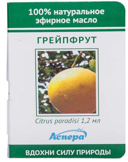 Аспера масло эфирное грейпфрут (миниатюра) 1,2мл, фото №1