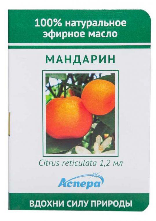 Аспера масло эфирное мандарин (миниатюра) 1,2мл, фото №1
