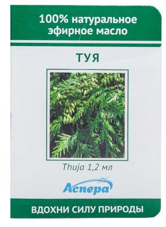 Аспера масло эфирное туя (миниатюра) 1,2мл, фото №1