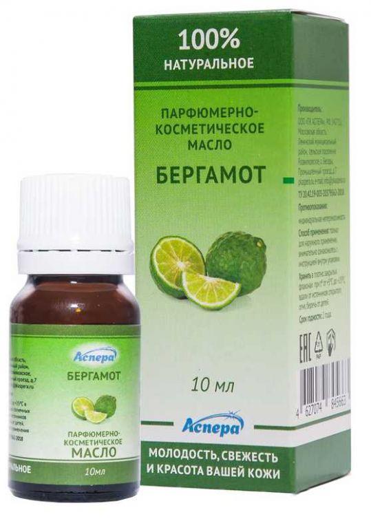Аспера масло парфюмерно-косметическое бергамот 10мл, фото №1