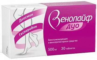 Венолайф дуо 500мг 30 шт. таблетки покрытые пленочной оболочкой