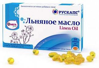 Льняное масло капсулы омегадети 30 шт.