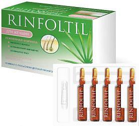 Ринфолтил лосьон усиленная формула от выпадения волос для женщин 10 шт. ампулы pharmalife researci