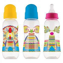 Лабби (lubby) бутылочка русские мотивы с талией рр соска силиконовая 250мл (12019)