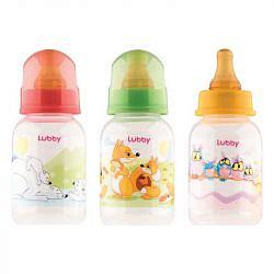 Лабби бутылочка с латексной соской веселые животные 0+ арт.13565 125мл