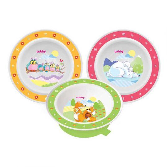 Лабби тарелка на присоске веселые животные 6+ арт.13954, фото №1