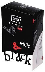 Белла панти слим прокладки ежедневные белые/черные n20+20