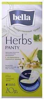 Белла панти хербс прокладки ежедневные липа 20 шт.