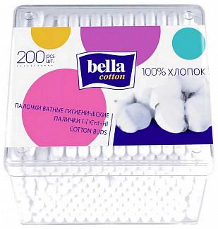 Белла коттон ватные палочки квадратная упаковка 200 шт.