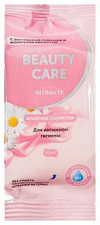 Бьюти кеа салфетки влажные для интимной гигиены ромашка/молочная кислота 20 шт.