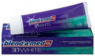 Бленд-а-мед 3д вайт зубная паста нежная мята 100мл